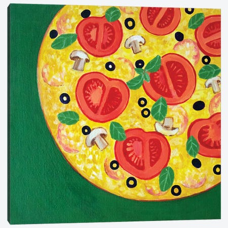 Pizza Canvas Print #TSD56} by Toni Silber-Delerive Canvas Art