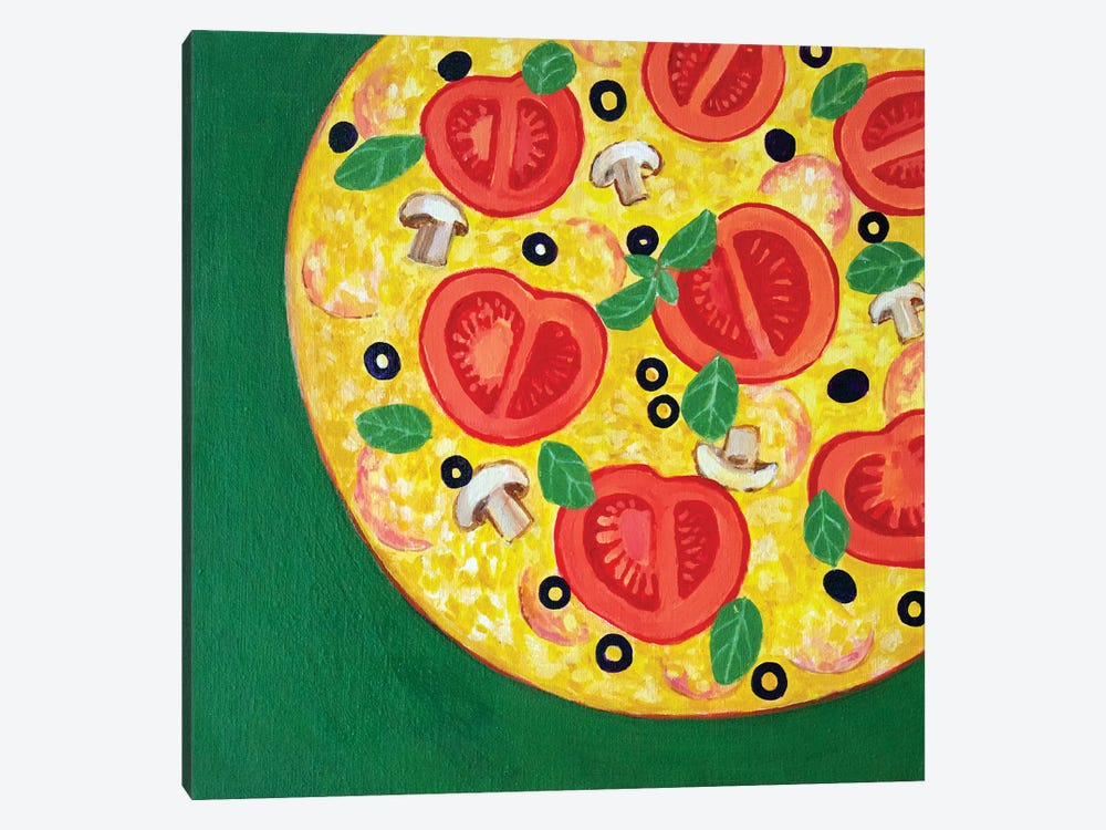 Pizza by Toni Silber-Delerive 1-piece Canvas Wall Art