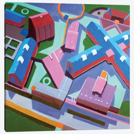 Polish Campus  3-Piece Canvas #TSD57} by Toni Silber-Delerive Canvas Artwork