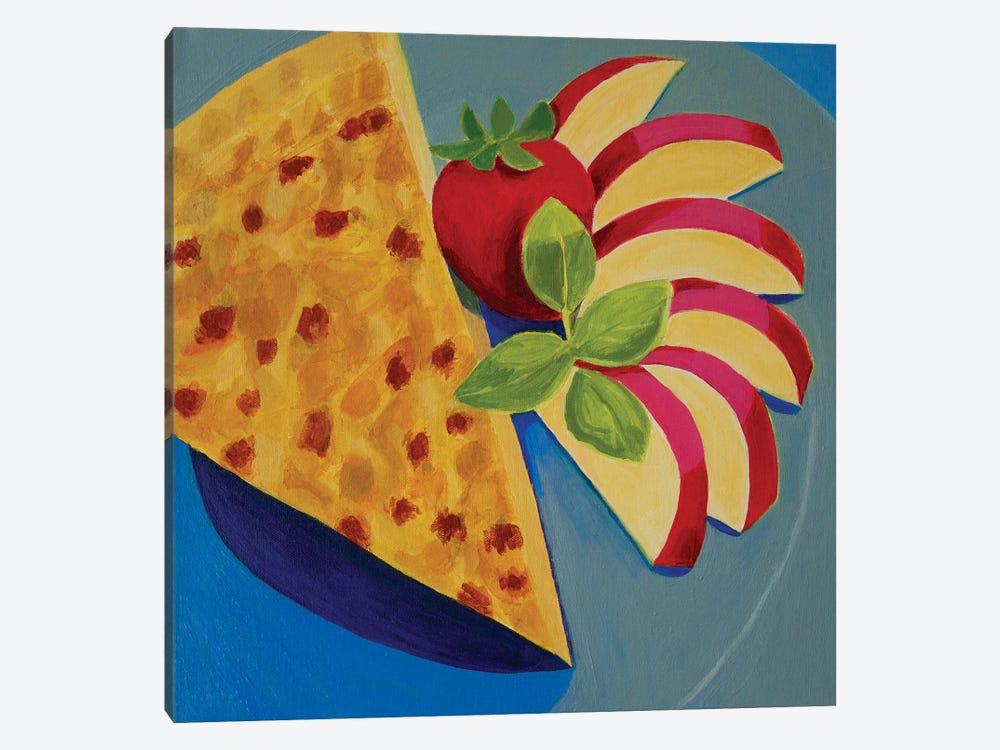 Quiche With Apple by Toni Silber-Delerive 1-piece Canvas Art