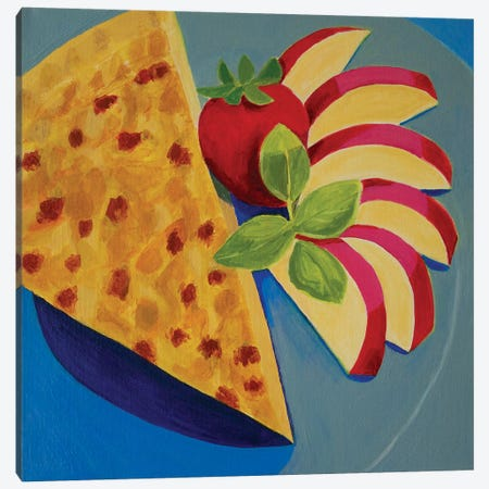 Quiche With Apple 3-Piece Canvas #TSD58} by Toni Silber-Delerive Canvas Print