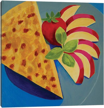 Quiche With Apple Canvas Art Print