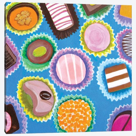 Assorted Chocolates Canvas Print #TSD5} by Toni Silber-Delerive Canvas Print