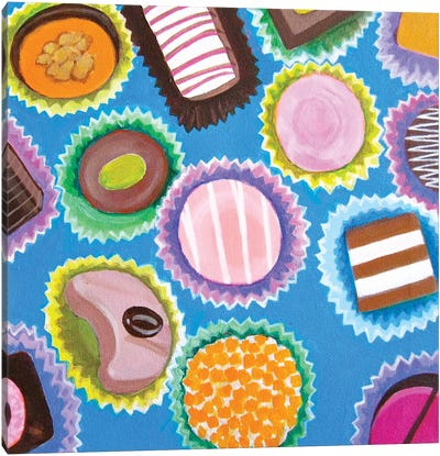 Assorted Chocolates Canvas Art Print