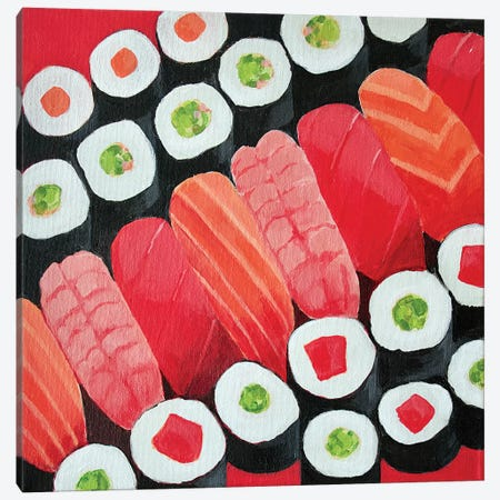 Sushi Canvas Print #TSD61} by Toni Silber-Delerive Canvas Wall Art