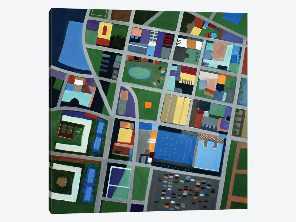 The One Jersey City by Toni Silber-Delerive 1-piece Canvas Print