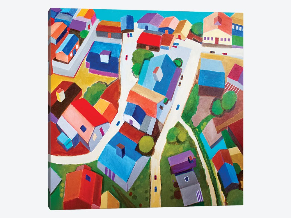 Tokyo Suburb by Toni Silber-Delerive 1-piece Canvas Wall Art