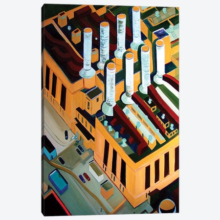 Utility Plant Canvas Print #TSD66} by Toni Silber-Delerive Canvas Art Print