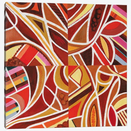 Brown Intersections Canvas Print #TSD67} by Toni Silber-Delerive Canvas Art Print