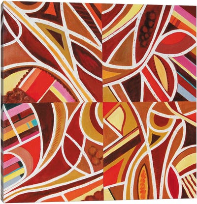 Brown Intersections Canvas Art Print