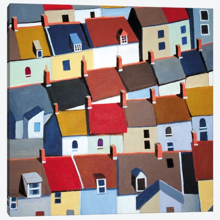 London Terraced Buildings Canvas Print #TSD71} by Toni Silber-Delerive Canvas Print