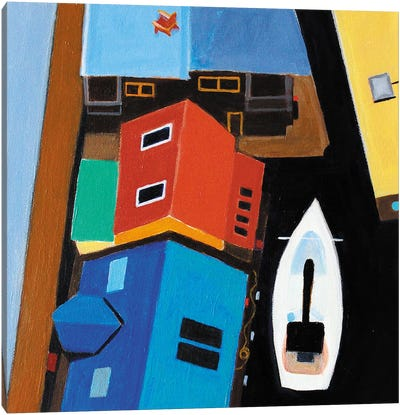 Mission Creek Houseboats Canvas Art Print
