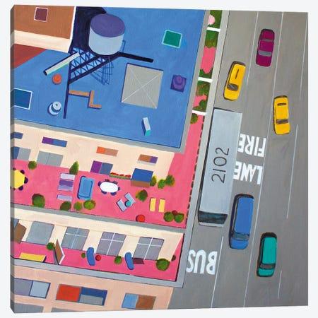 NYC Summer Terraces Canvas Print #TSD76} by Toni Silber-Delerive Canvas Wall Art