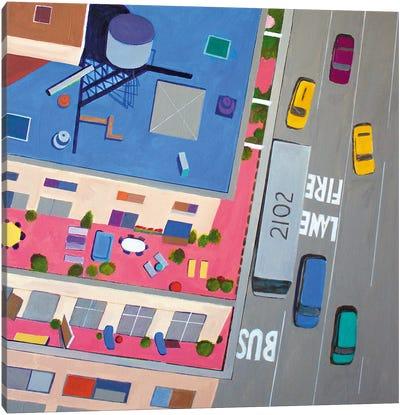 NYC Summer Terraces Canvas Art Print