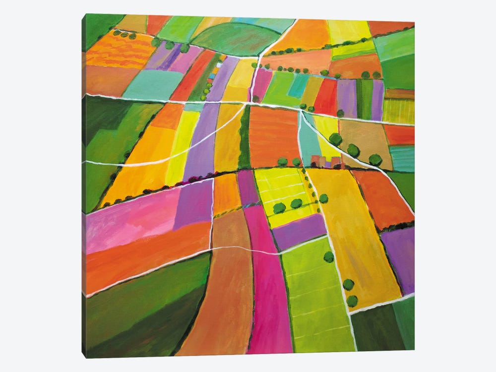 Summer Fields by Toni Silber-Delerive 1-piece Canvas Print