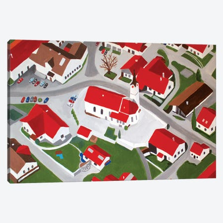 Bavarian Village Canvas Print #TSD8} by Toni Silber-Delerive Canvas Artwork