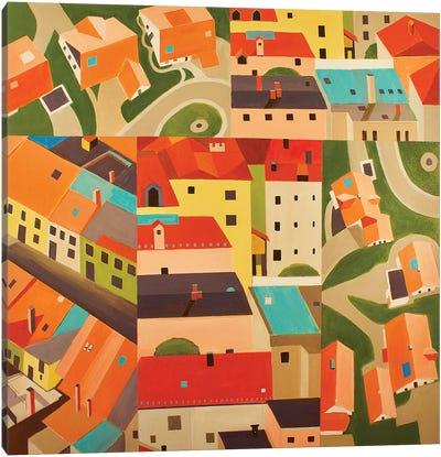Neighborhood Montage Canvas Art Print