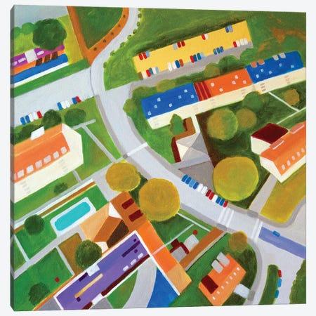 Cross Country Roads. Canvas Print #TSD95} by Toni Silber-Delerive Canvas Art