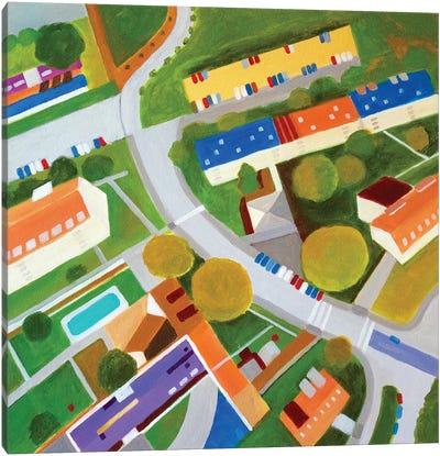 Cross Country Roads. Canvas Art Print