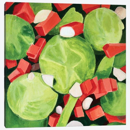 Brussel Sprouts Salad Canvas Print #TSD99} by Toni Silber-Delerive Canvas Art Print