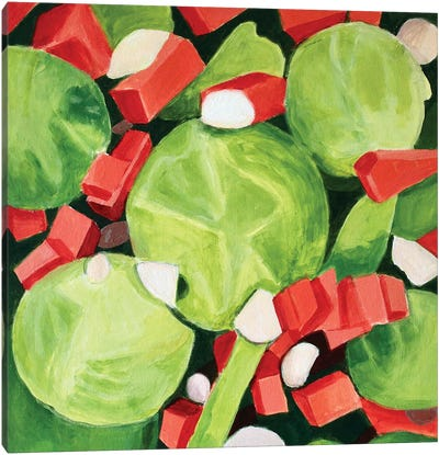 Brussel Sprouts Salad Canvas Art Print