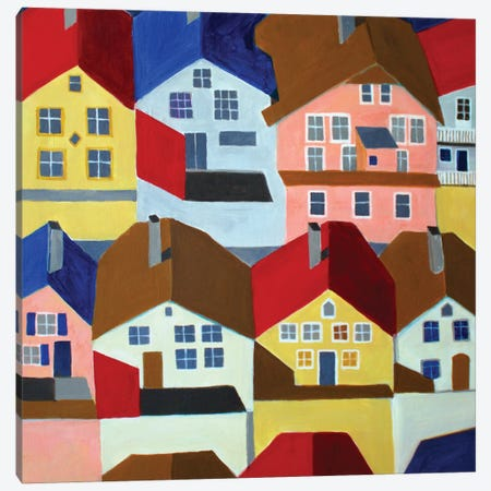 Bergen. Norway Canvas Print #TSD9} by Toni Silber-Delerive Canvas Artwork