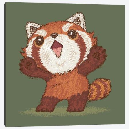 Red Panda Standing Canvas Print #TSG101} by Toru Sanogawa Canvas Wall Art