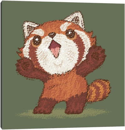 Red Panda Standing Canvas Art Print