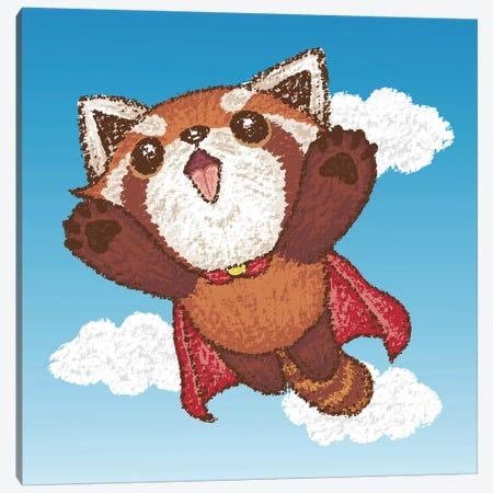 Red Panda Superhero Canvas Print #TSG102} by Toru Sanogawa Canvas Artwork