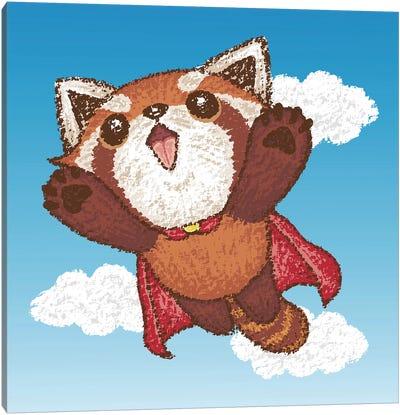Red Panda Superhero Canvas Art Print