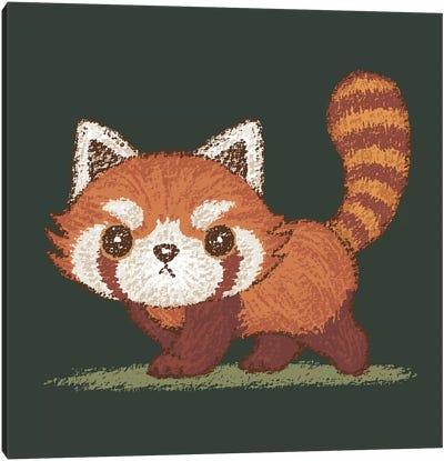 Red Panda Walking Canvas Art Print