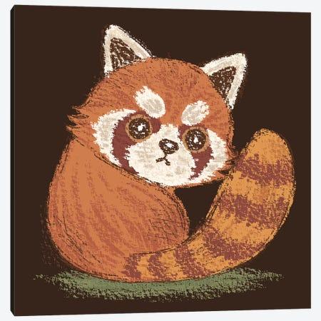 Red-Panda Look Back Canvas Print #TSG106} by Toru Sanogawa Art Print