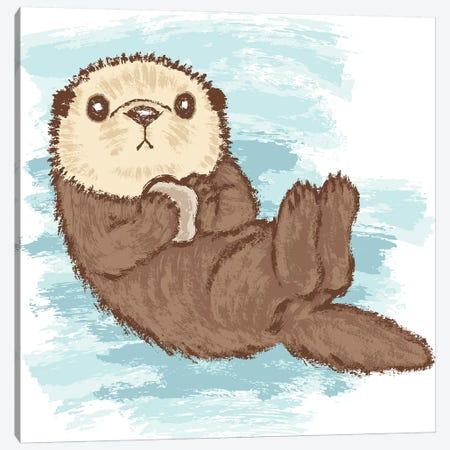 Sea Otter Canvas Print #TSG111} by Toru Sanogawa Art Print