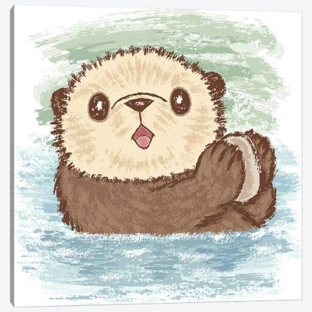 Sea Otter And Food Canvas Print #TSG112} by Toru Sanogawa Canvas Print