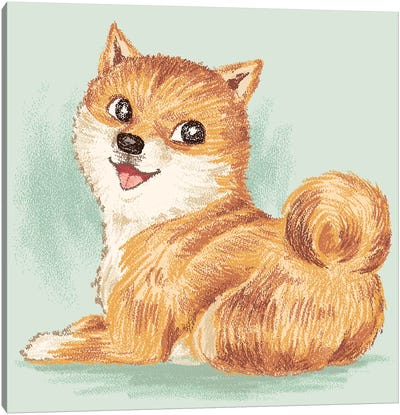 Shiba Smile Canvas Art Print
