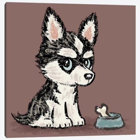 Siberian Husky And Meal Canvas Print #TSG121} by Toru Sanogawa Canvas Artwork
