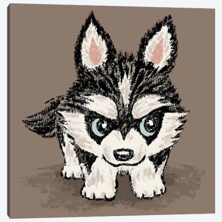 Siberian Husky Puppy Canvas Print #TSG123} by Toru Sanogawa Canvas Art
