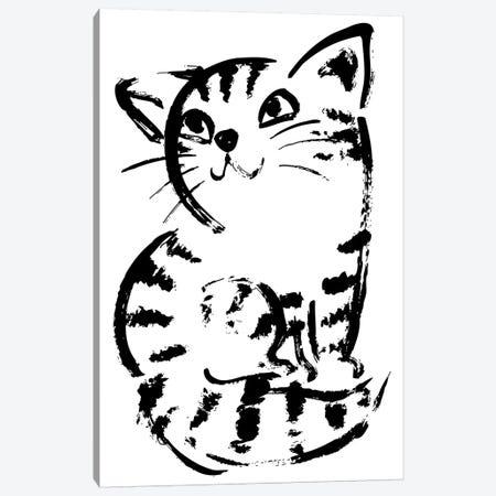Sketch Of Cat Looks Up Canvas Print #TSG127} by Toru Sanogawa Art Print