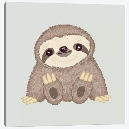 Sloth Canvas Print #TSG133} by Toru Sanogawa Canvas Print