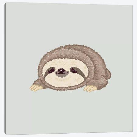 Sloth Lying Down Canvas Print #TSG134} by Toru Sanogawa Canvas Wall Art
