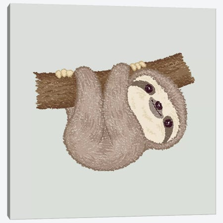 Sloth On The Tree Canvas Print #TSG135} by Toru Sanogawa Canvas Art