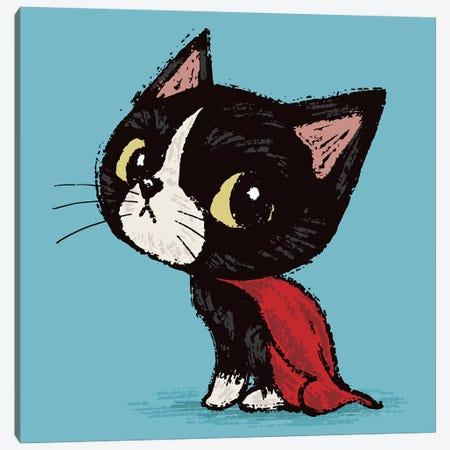 Super Cat Canvas Print #TSG138} by Toru Sanogawa Art Print