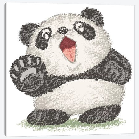 Surprized Panda Canvas Print #TSG140} by Toru Sanogawa Canvas Artwork