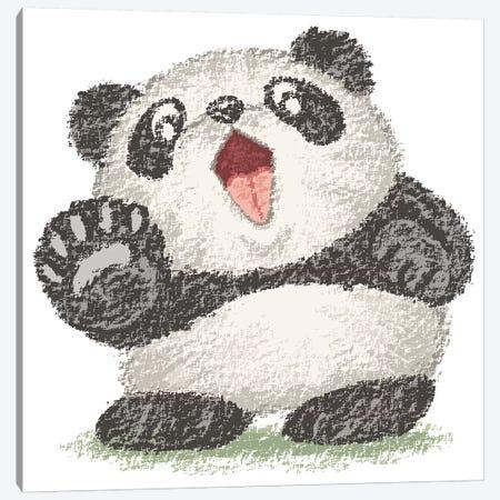 Surprized Panda Canvas Print #TSG140} by Toru Sanogawa Canvas Artwork