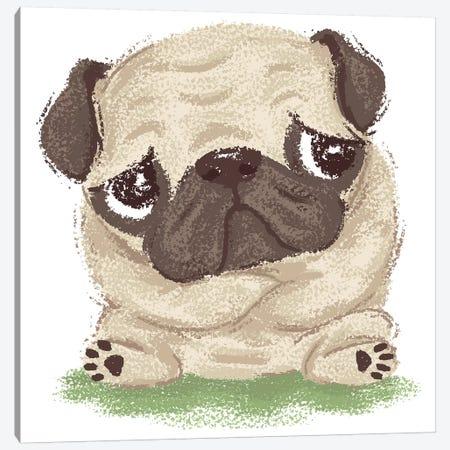 Thoughtful Pug Canvas Print #TSG145} by Toru Sanogawa Art Print