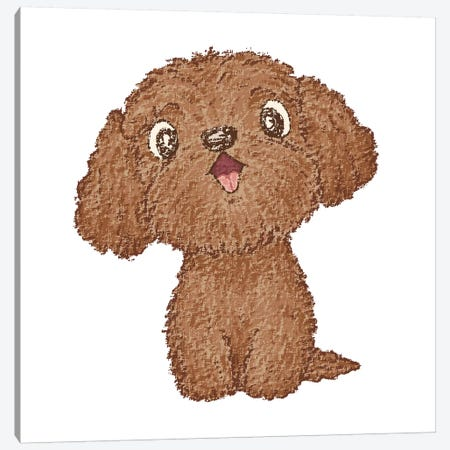 Toy-Poodle Happy Canvas Print #TSG148} by Toru Sanogawa Canvas Wall Art