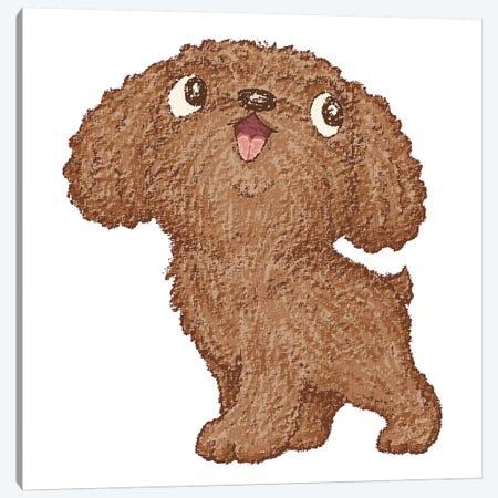 Toy-Poodle Walking Canvas Print #TSG151} by Toru Sanogawa Art Print