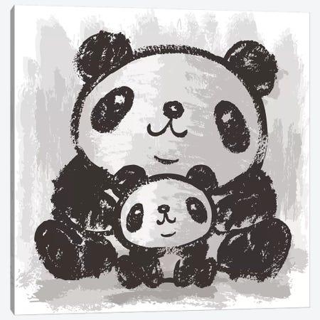 Two Pandas Are Sitting Canvas Print #TSG152} by Toru Sanogawa Art Print