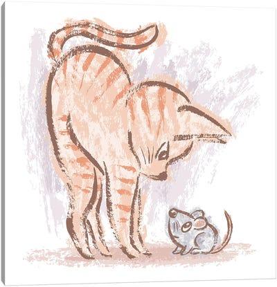 Cat Vs Mouse Canvas Art Print
