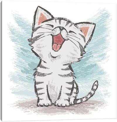 American Shorthair Happy Canvas Art Print
